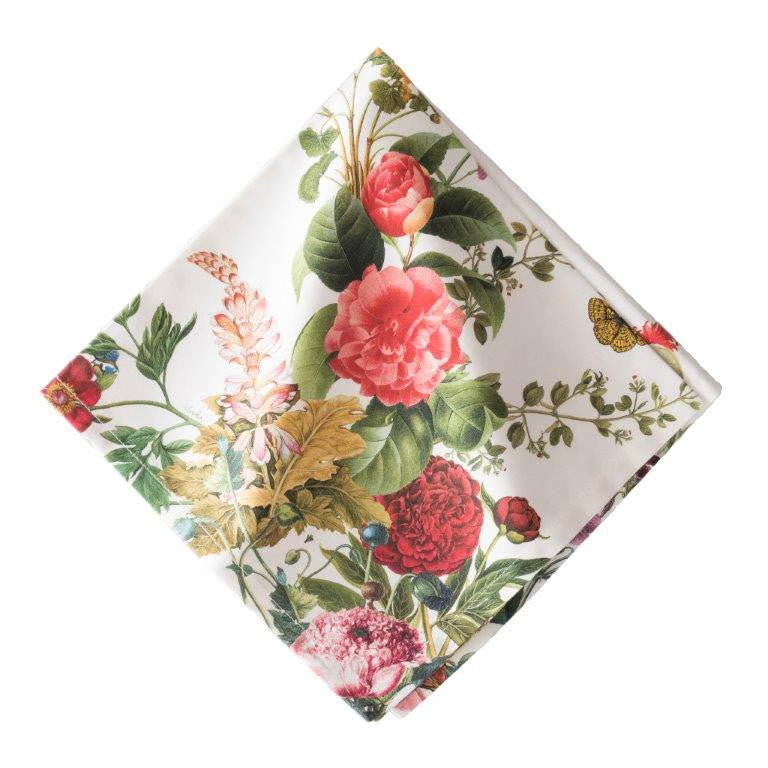 Field of Flowers White Napkin