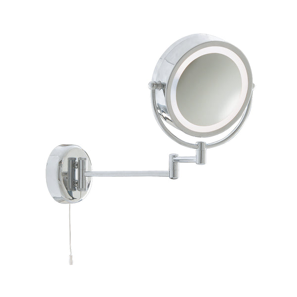 Searchlight BATHROOM ILLUMINATED MIRROR - CHROME EXTENDABLE SWING ARM LIGHT