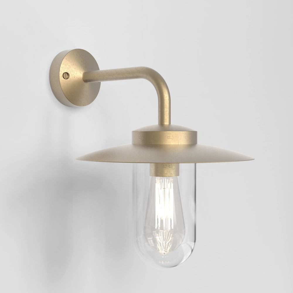 Astro PORTREE OUTDOOR COAL WALL LIGHT in Natural Brass