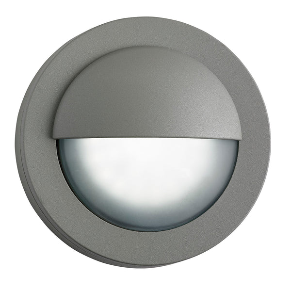 Searchlight LED OUTDOOR ROUND, GREY FLUSH