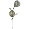 Searchlight BELLIS II ANTIQUE BRASS WALL LIGHT WITH CLEAR DECORATIVE GLASS SHADE