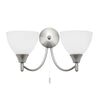 Endon ALTON 2 LIGHTS SATIN CHROME WALL LIGHT 60W
