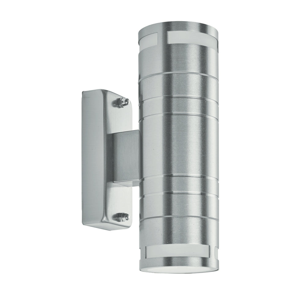 Searchlight OUTDOOR & PORCH (GU10 LED) - 2 LIGHT WALL BRACKET, STAINLESS STEEL, FROSTED GLASS