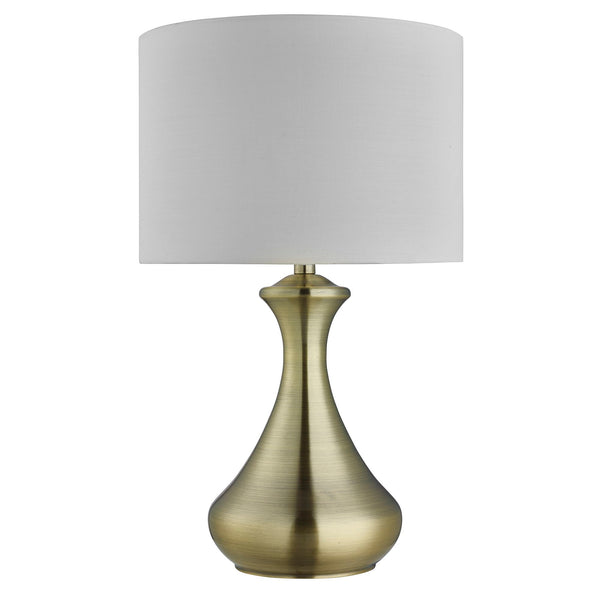 Searchlight TOUCH LAMP - ANTIQUE BRASS , CREAM SHADE