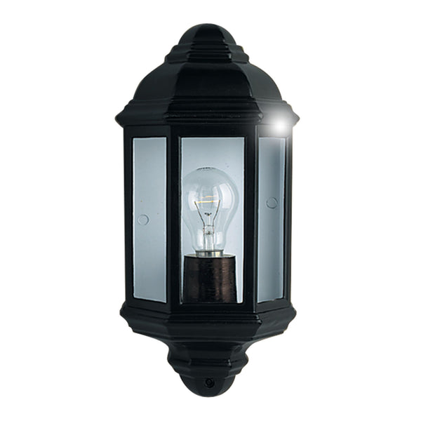 Searchlight OUTDOOR & PORCH WALL LIGHT BLACK FLUSH