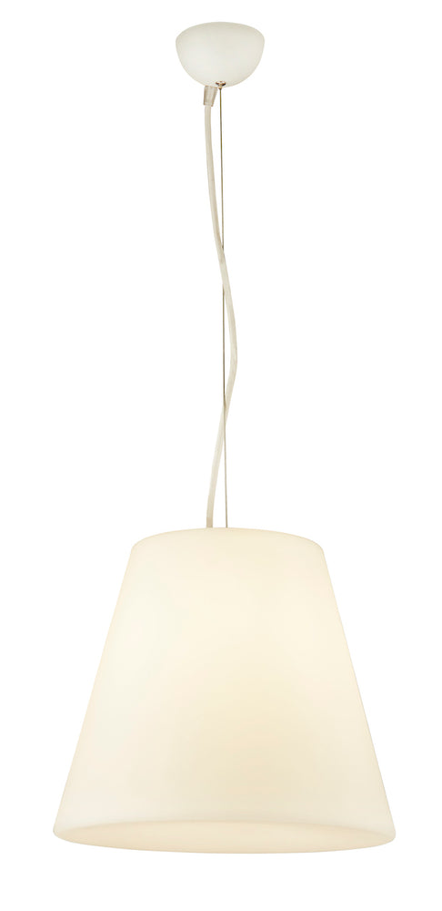 Searchlight LED OUTDOOR PENDANT, WHITE PC TAPERED SHADE
