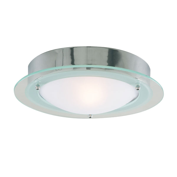 Searchlight CHROME FLUSH FITTING WITH OPAL GLASS