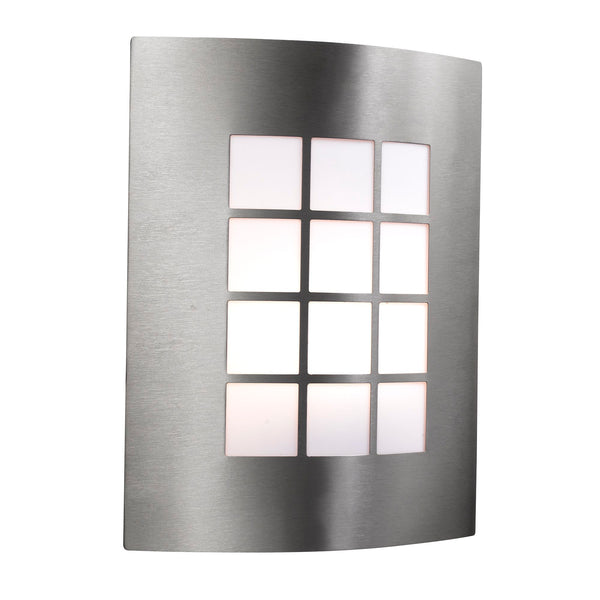 Searchlight OUTDOOR & PORCH WALL LIGHT - STAINLESS STEEL 1 LIGHT