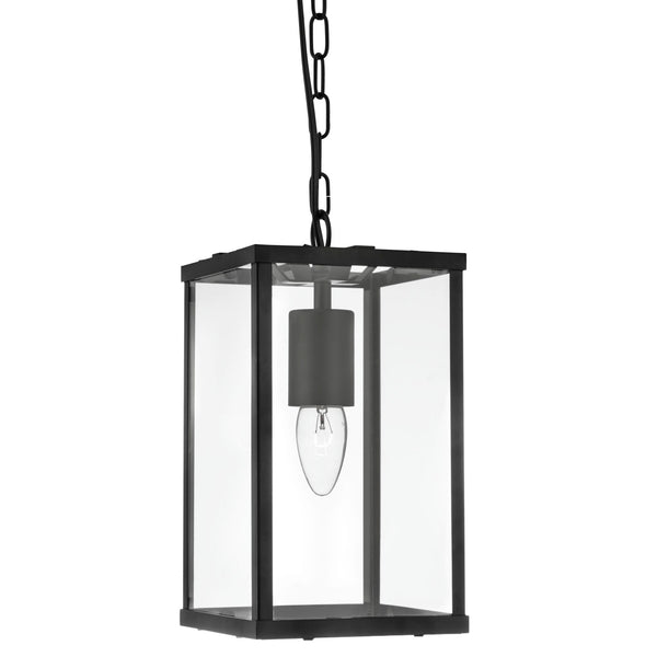 Searchlight VOYAGER 1 LIGHT RECTANGLE BLACK-CLEAR GLASS
