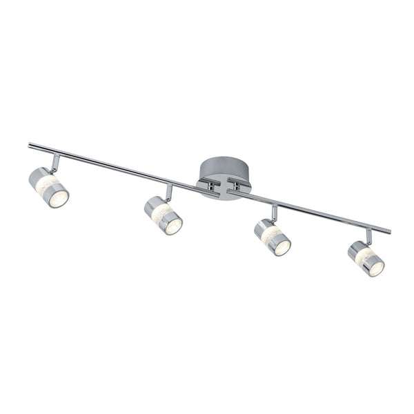 Searchlight BUBBLES CHROME 4 LED ADJUSTABLE BAR SPOTLIGHT WITH ACRYLIC BUBBLES EFFECT