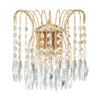 Searchlight WATERFALL - 2 LIGHT WALL BRACKET, GOLD, CLEAR CRYSTAL