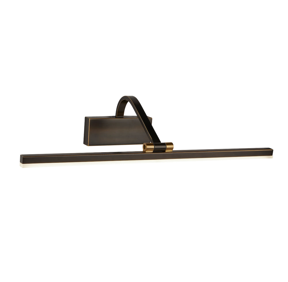 Searchlight LED PICTURE LIGHT - BLACK BRUSHED GOLD