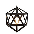 Searchlight VOYAGER 1 LIGHT GEOMETRIC PENDANT, MATT BLACK