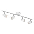 Searchlight PLUTO 4 LIGHT WHITE-CHROME EGG - SPLIT BAR SPOT
