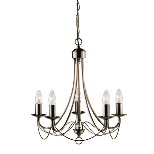 Searchlight MAYPOLE 5 LIGHT ANTIQUE BRASS FITTING