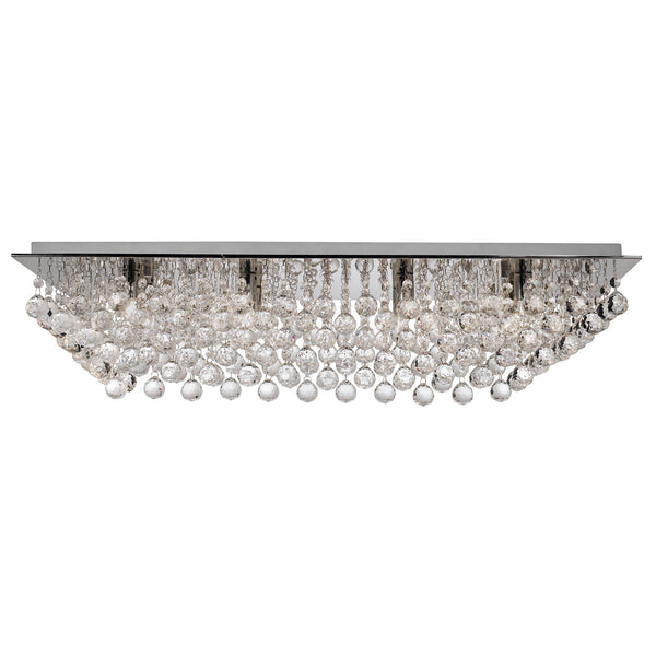 Searchlight HANNA 8 LIGHTCHROME RECTANGLE FLUSH- CRYSTAL BALL