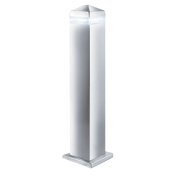 Searchlight INDIA LED OUTDOOR POST - 45cm SATIN SILVER SQUARE - 16 LEDS