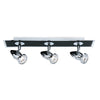 Searchlight COMET 3 LIGHT BAR SPOT MATT BLACK-CHROME GU10
