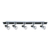 Searchlight COMET 5 LIGHT BAR SPOT MATT BLACK-CHROME GU10