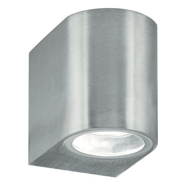 Searchlight OUTDOOR & PORCH (GU10 LED) IP44 WALL LIGHT 1 LIGHT SILVER