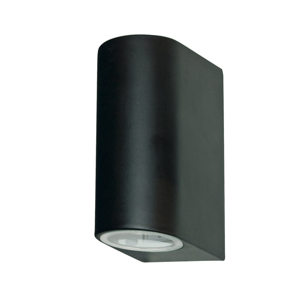 Searchlight OUTDOOR & PORCH (GU10 LED) IP44 WALL LIGHT 2 LIGHT BLACK
