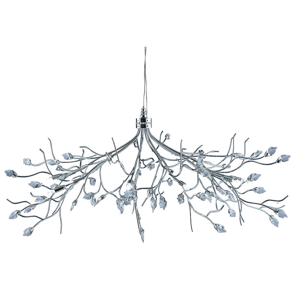 Searchlight WISTERIA MAPLE LEAF CRYSTAL CHROME 10 LIGHT FITTING