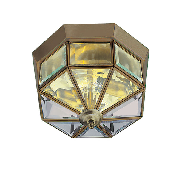 Searchlight FLUSH ANTIQUE BRASS FITTING 23cm