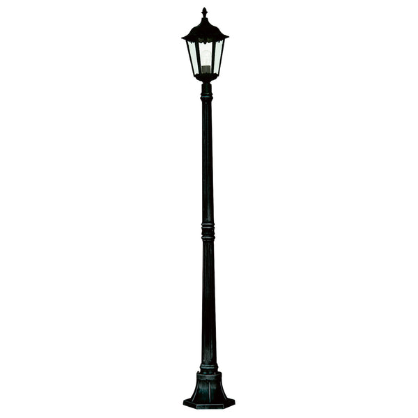 Searchlight ALEX BLACK OUTDOOR LAMP POST WITH CLEAR GLASS
