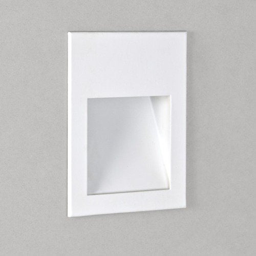 Astro BORGO 90 LED 3000K Recessed Wall Light - Matt White Finish