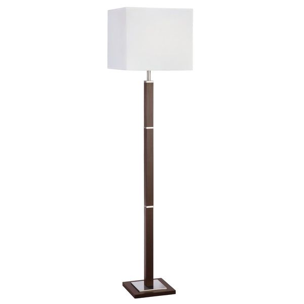 Searchlight WAVERLEY FLOOR LAMP 1 LIGHT BROWN WOOD-SS RECTANGLE