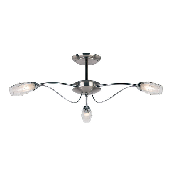 Endon MERCURY 3 LIGHTS SEMI FLUSH 33W