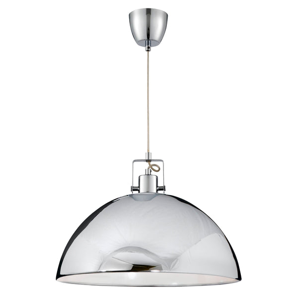 Searchlight INDUSTRIAL PENDANT, 1 LIGHT CHROME DOME