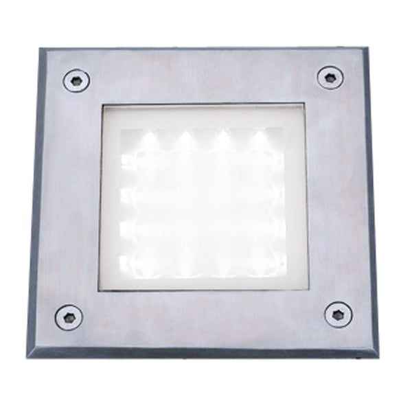 Searchlight LED RECESSED INDOOR & OUTDOOR WALKOVER SQUARE STAINLESS STEEL - WHITE LED