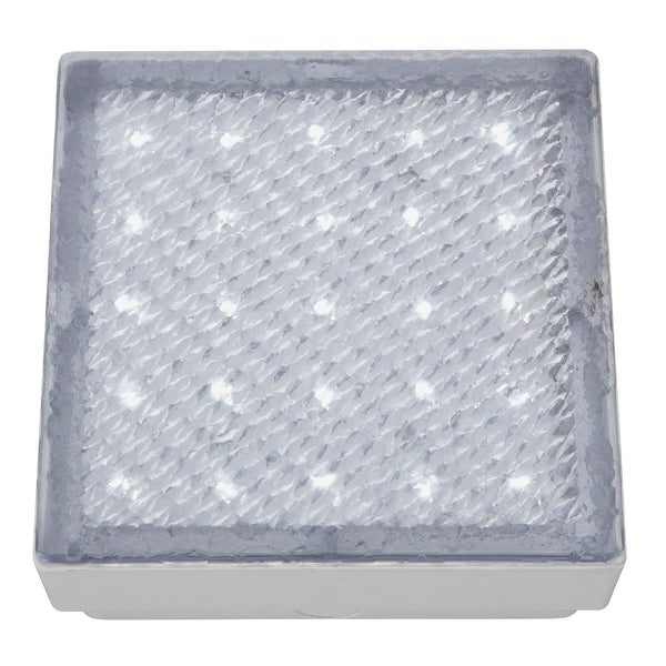 Searchlight LED RECESSED INDOOR & OUTDOOR WALKOVER CLEAR 15cm SQUARE WHITE LED