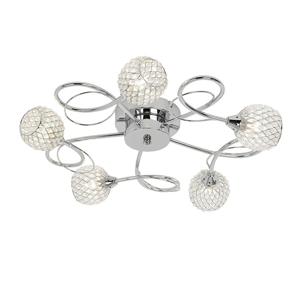 Endon AHERNE 5 LIGHTS SEMI FLUSH 33W