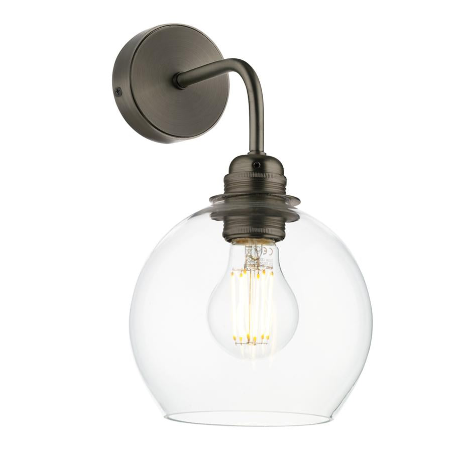 APOLLO Single wall light in antique brass DHL
