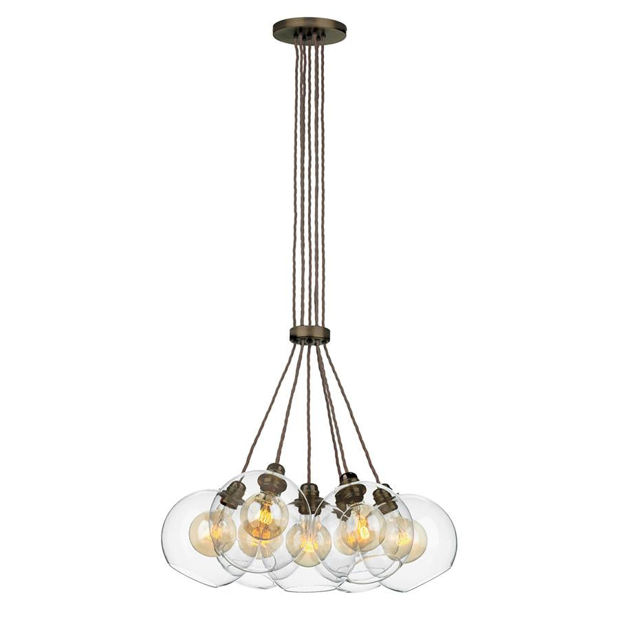 APOLLO 7 light pendant in antique brass