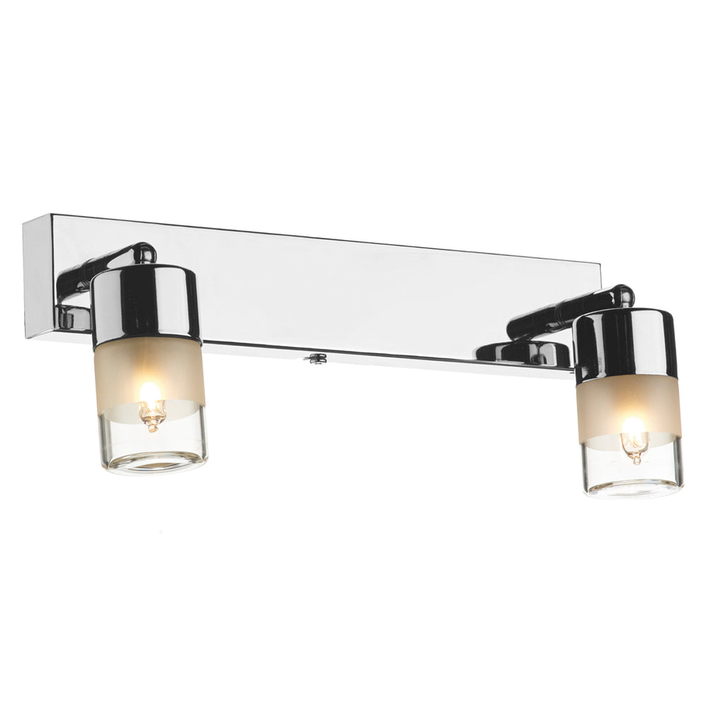 DAR - ARTEMIS DOUBLE WALL BRACKET POLISHED CHROME IP44