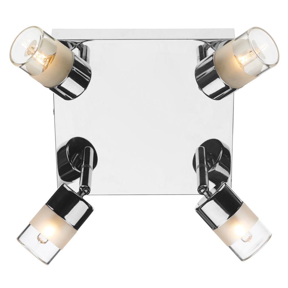 DAR - ARTEMIS 4 LIGHT PLATE POLISHED CHROME IP44