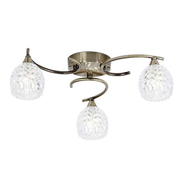 Endon BOYER 3 LIGHTS SEMI FLUSH 33W