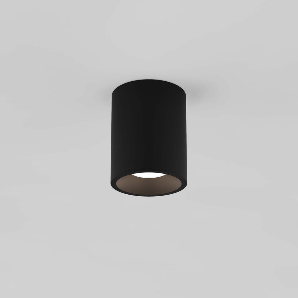 Astro KOS ROUND 100 LED OUTDOOR CEILING LIGHT in Textured Black