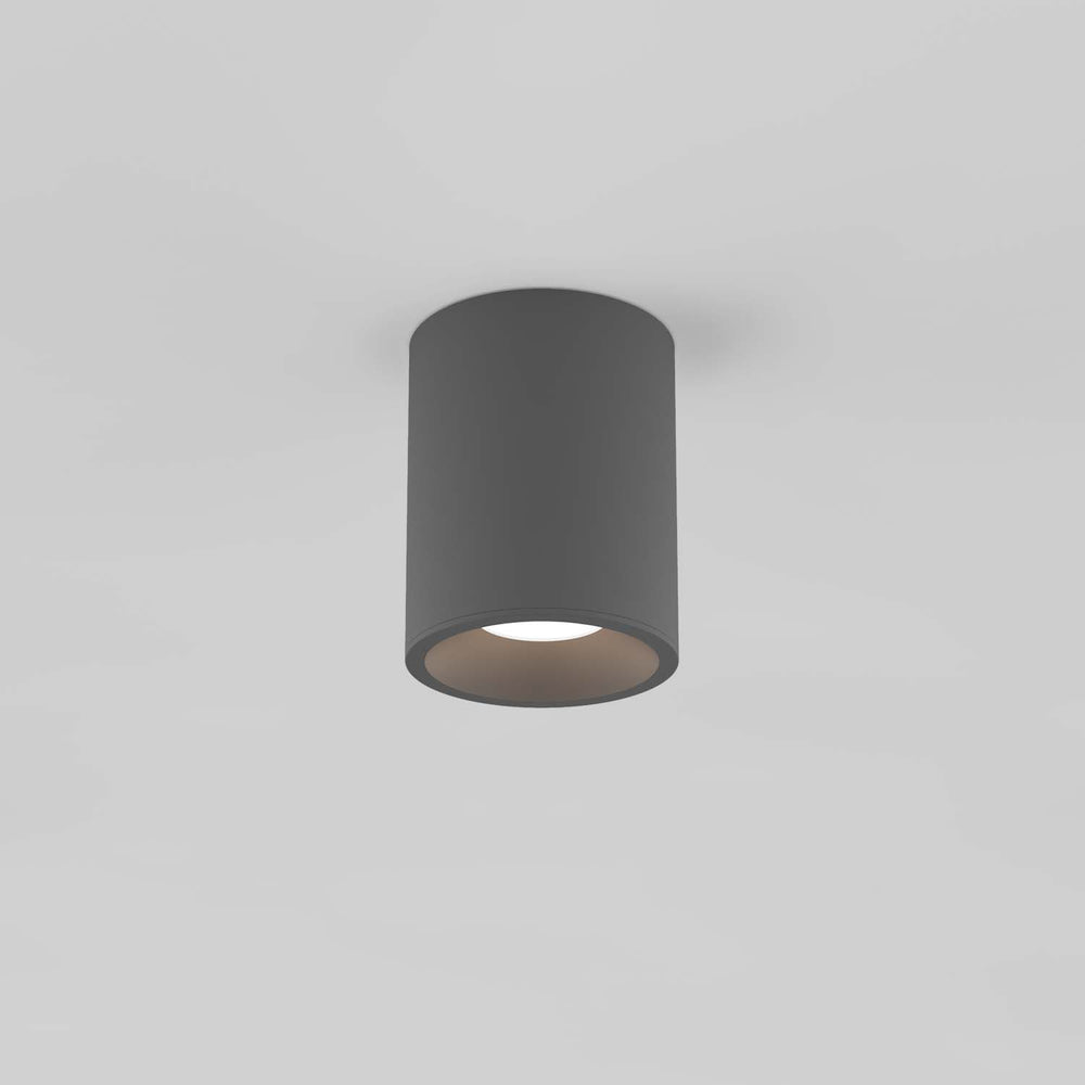 Astro KOS ROUND 100 LED OUTDOOR CEILING LIGHT in Textured Grey