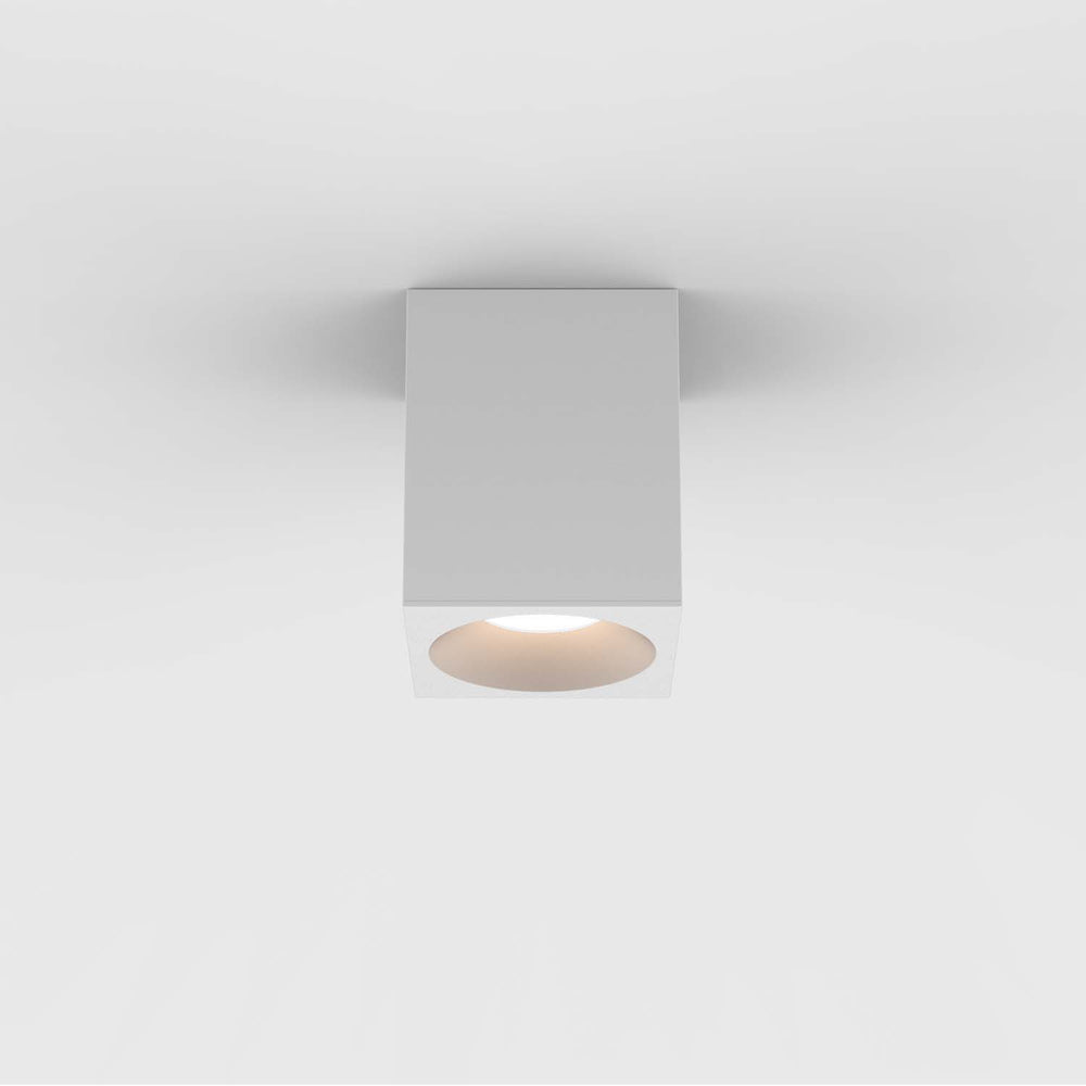 Astro KOS SQUARE 100 LED OUTDOOR CEILING LIGHT in Textured White