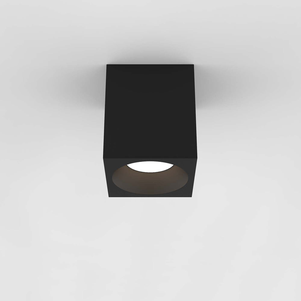 Astro KOS LARGE SQUARE 140 LED OUTDOOR CEILING LIGHT in Textured Black