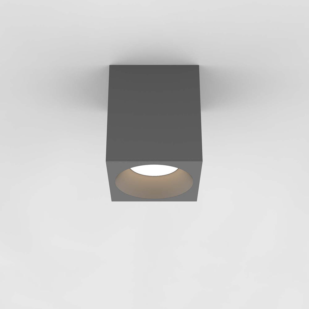 Astro KOS LARGE SQUARE 140 LED OUTDOOR CEILING LIGHT in Textured Grey