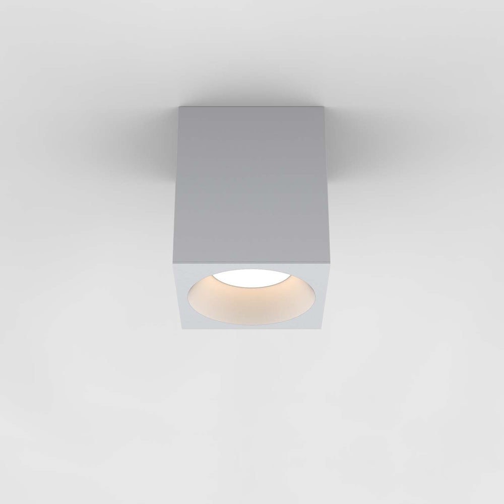 Astro KOS LARGE SQUARE 140 LED OUTDOOR CEILING LIGHT in Textured White