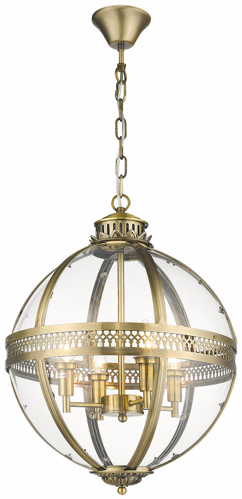 SLM TCIV Antique Brass 4 Light Pendant