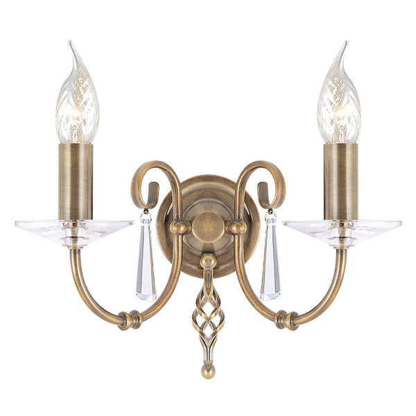 Elstead Lighting AEGEAN 2LT WALL LIGHT AGED BRASS
