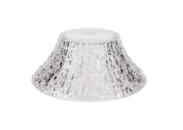LUMOS Antosadie Round 38cm Patterned Clear Glass Shade