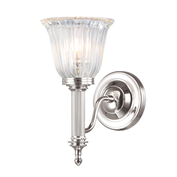 Elstead Lighting BATHROOM CARROLL1 POLISHED NICKEL